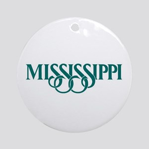 Mississippi Ornament (Round)