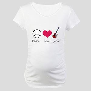 Peace Love Jonas Maternity T-Shirt