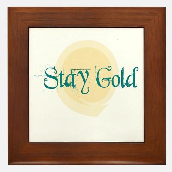 Stay Gold Framed Tile
