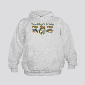 3 THINGS TO DO FISH FISH FISH Kids Hoodie