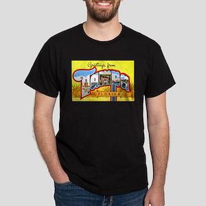 Tampa Florida Greetings (Front) Dark T-Shirt