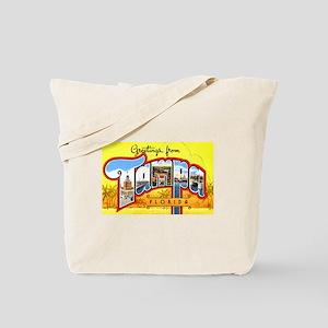 Tampa Florida Greetings Tote Bag