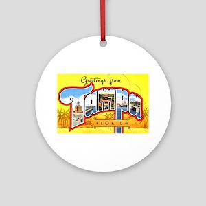 Tampa Florida Greetings Ornament (Round)