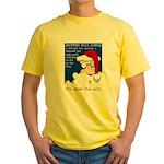 SHOPPING MALL SANTAS Yellow T-Shirt