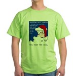 SHOPPING MALL SANTAS Green T-Shirt