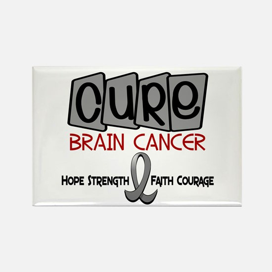 CURE Brain Cancer 1 Rectangle Magnet