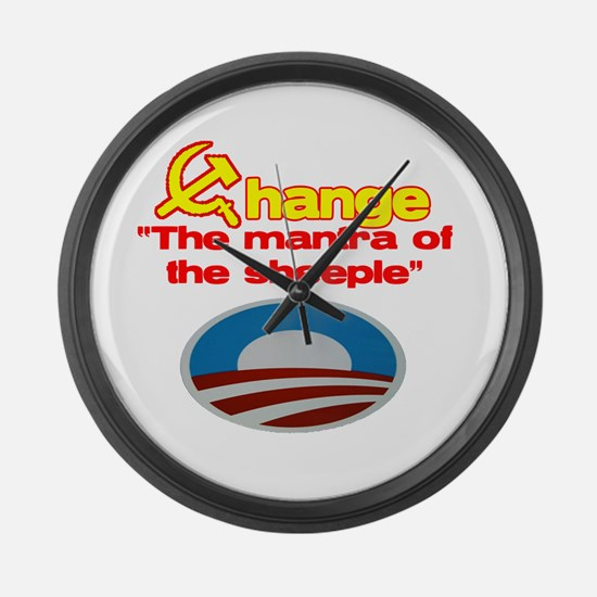 Cool Impeach obama Large Wall Clock