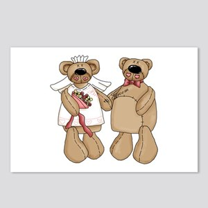 Bride and Groom bears Postcards (Package of 8)