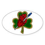 Tin Whistle Forever Oval Sticker