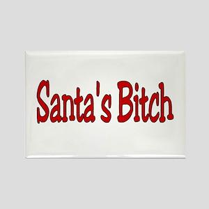 Santa's Bitch Rectangle Magnet