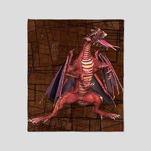 Fantasy Winged Dragon Throw Blanket