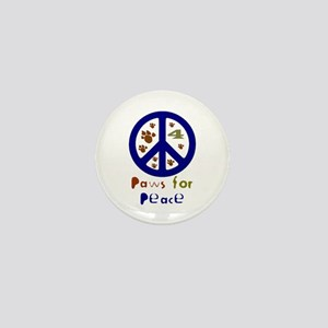 Paws for Peace Navy Mini Button