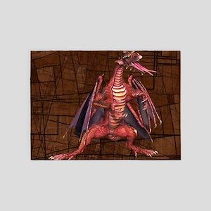 Fantasy Winged Dragon 5'x7'Area Rug