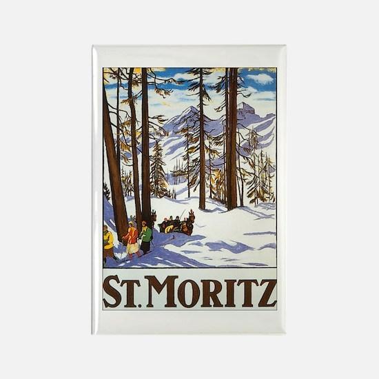 St Moritz Switzerland Rectangle Magnet