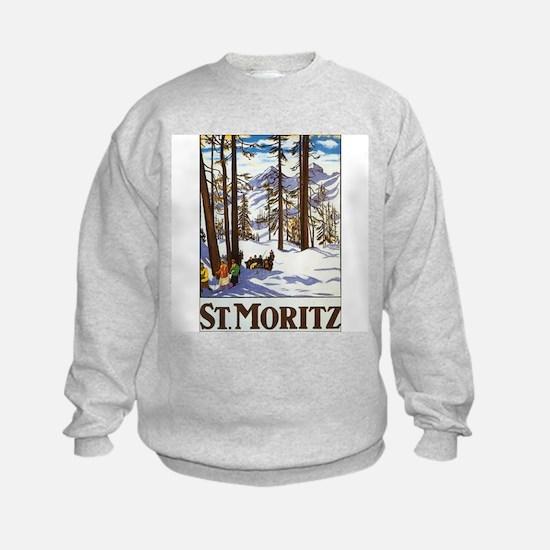 St Moritz Switzerland (Front) Sweatshirt
