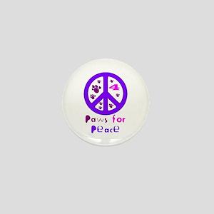 Paws for Peace Purple Mini Button