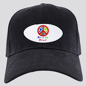 Paws for Peace Red Black Cap