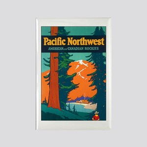 Pacific Northwest Rectangle Magnet