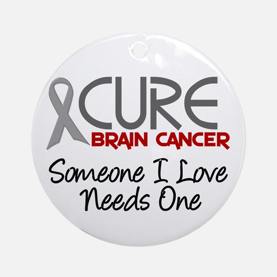 CURE Brain Cancer 2 Ornament (Round)