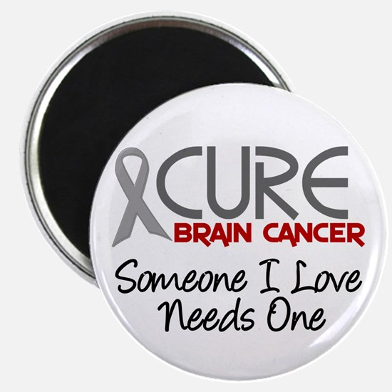 """CURE Brain Cancer 2 2.25"""" Magnet (100 pack)"""