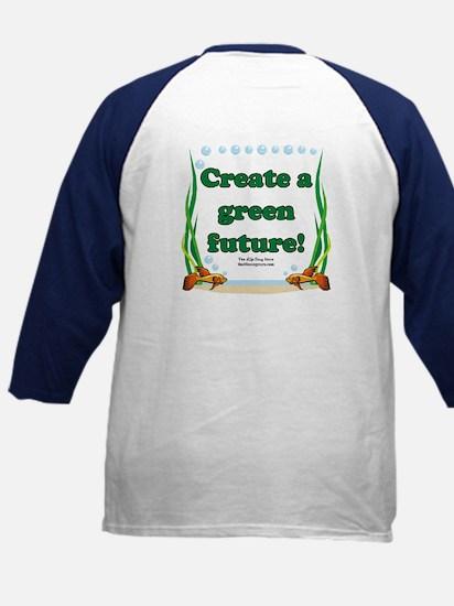Green Future Kids Baseball Jersey