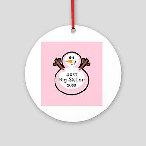 Best Big Sister Snowman Ornament Dated 2008