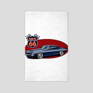 Route 66 Camaro Area Rug
