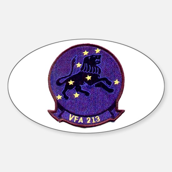VFA 213 Black Lions Oval Decal