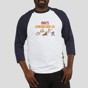 Max's Construction Co. Baseball Jersey