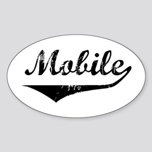 Mobile Oval Sticker
