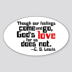 God's Love for Us Oval Sticker