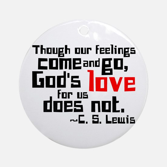 God's Love for Us Ornament (Round)