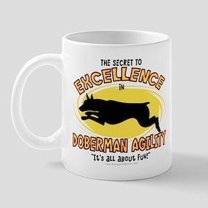 The Secret to Doberman Agility Mug