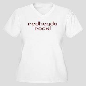 1240029c Redheads Rock Women's Plus Size T-Shirts - CafePress