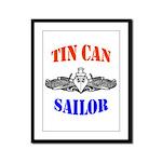 Tin Can Sailor Framed Panel Print