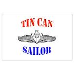 Tin Can Sailor Large Poster