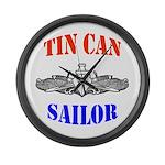 Tin Can Sailor Large Wall Clock