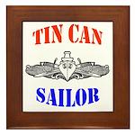 Tin Can Sailor Framed Tile