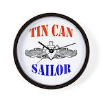 Tin Can Sailor Wall Clock
