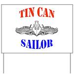Tin Can Sailor Yard Sign