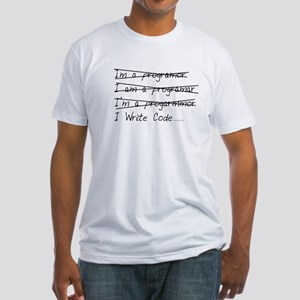I Write Code Fitted T-Shirt