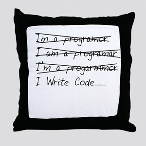 I Write Code Throw Pillow