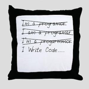 I Write Code Throw Pillow