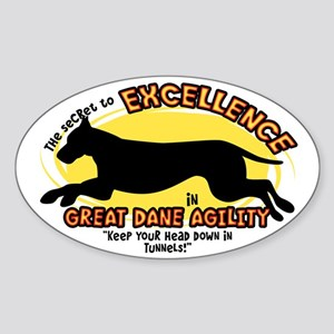 Secret Great Dane Agility Oval Sticker