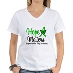 Cerebral Palsy HopeMatters Women's V-Neck T-Shirt