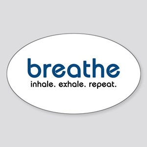 Breathe Oval Sticker