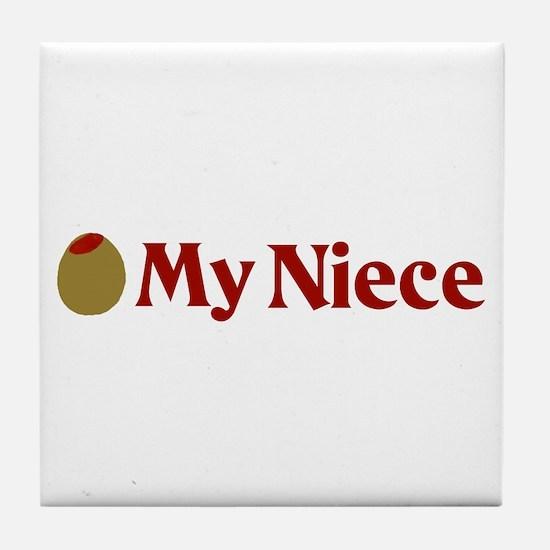 Olive (I Love) My Niece Tile Coaster