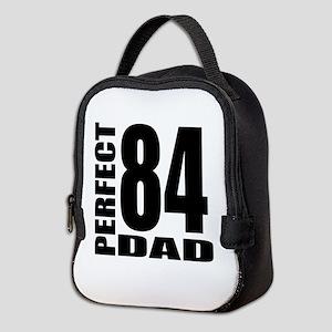 Perfect Dad 84 Birthday Designs Neoprene Lunch Bag