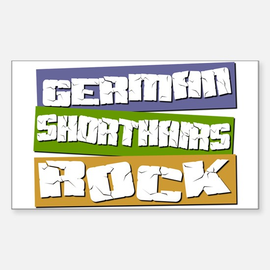 German Shorthairs ROCK Rectangle Decal