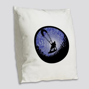 KITEBOARD Burlap Throw Pillow